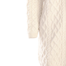 Load image into Gallery viewer, Natural Long Aran Cardigan with Zip