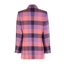Load image into Gallery viewer, Long Zip Jacket - Pink & Purple Square