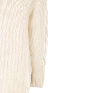 Luxury Cable Knit Sweater, Natural