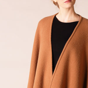 Luxury Wrap Cape, Camel