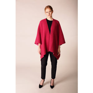 Luxury Wrap Cape, Raspberry