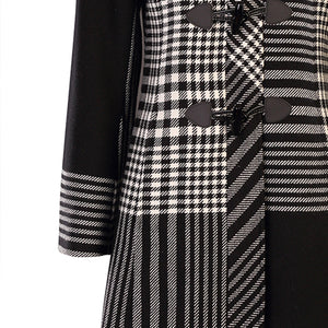 Marie Coat, Black & White