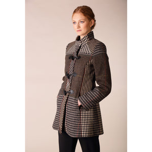 Marie Coat, Brown Check