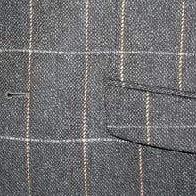 Load image into Gallery viewer, Donegal Tweed Jacket - Grey & Gold Windowpane