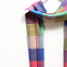 Load image into Gallery viewer, Merino Wool Scarf, Multi Check