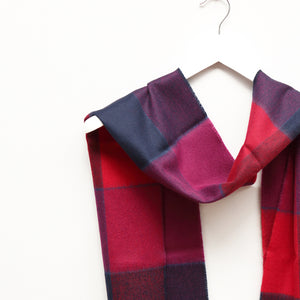 Merino Wool Scarf, Purple Mix