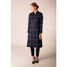 Load image into Gallery viewer, Military Coat, Navy Check