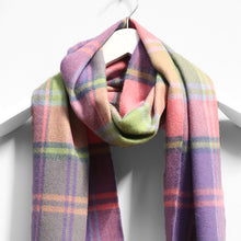 Load image into Gallery viewer, Merino Wool Scarf, Purple & Pink Square