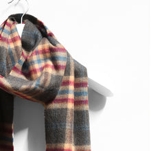 Load image into Gallery viewer, Merino Wool Scarf, Grey Check