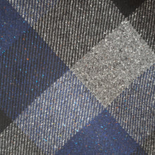 Load image into Gallery viewer, Heavy Navy & Charcoal Check Donegal Tweed Fabric Sample