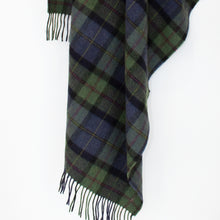 Load image into Gallery viewer, Green & Navy Lambswool Blanket