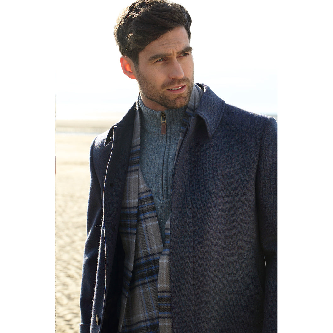 Peacoat, Navy Herringbone