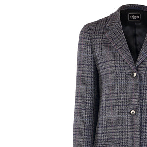 Daisy Coat, Navy Check