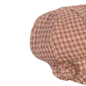 Newsboy Cap, Brown Check