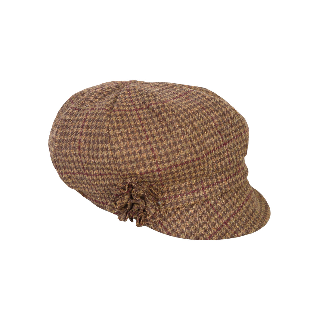 Newsboy Cap, Brown Houndstooth