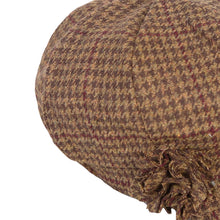 Load image into Gallery viewer, Newsboy Cap, Brown Houndstooth