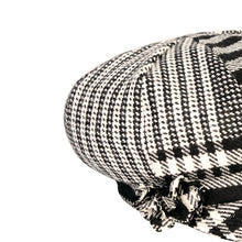Load image into Gallery viewer, Newsboy Cap, Black & White Houndstooth
