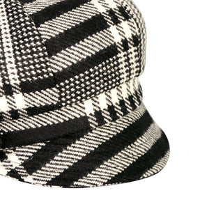 Newsboy Cap, Black & White Houndstooth