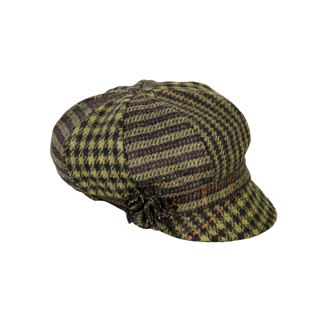 Newsboy Cap, Green Check