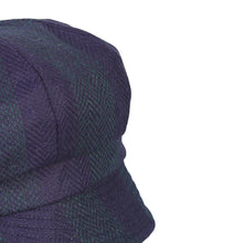 Load image into Gallery viewer, Newsboy Cap, Navy & Green