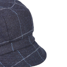 Load image into Gallery viewer, Newsboy Cap, Navy Windowpane