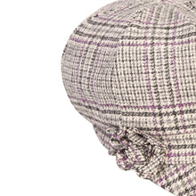 Load image into Gallery viewer, Newsboy Cap, Pink & Grey Houndstooth