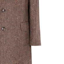 Load image into Gallery viewer, Brown Salt & Pepper Donegal Tweed Overcoat