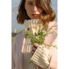 Load image into Gallery viewer, Saoirse Coat, Pink & Cream Herringbone