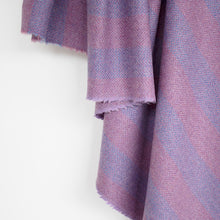 Load image into Gallery viewer, Lilac & Mauve Striped Donegal Tweed Fabric