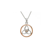 Load image into Gallery viewer, Trinity Knot Circle Pendant