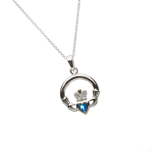 Claddagh Birthstone Pendant December