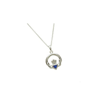 Load image into Gallery viewer, Claddagh Birthstone Pendant September