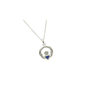 Claddagh Birthstone Pendant September