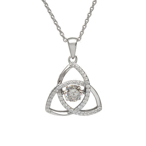 Dancing Trinity Birthstone Pendant April