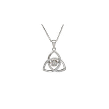 Load image into Gallery viewer, Dancing Trinity Birthstone Pendant April