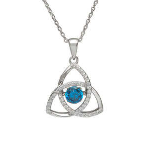 Dancing Trinity Birthstone Pendant December