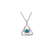 Load image into Gallery viewer, Dancing Trinity Birthstone Pendant December