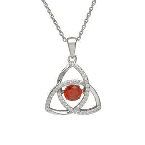 Dancing Trinity Birthstone Pendant January