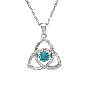 Dancing Trinity Birthstone Pendant March