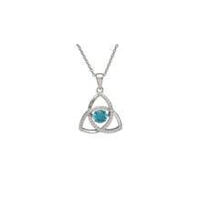 Load image into Gallery viewer, Dancing Trinity Birthstone Pendant March