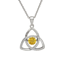 Load image into Gallery viewer, Dancing Trinity Birthstone Pendant November