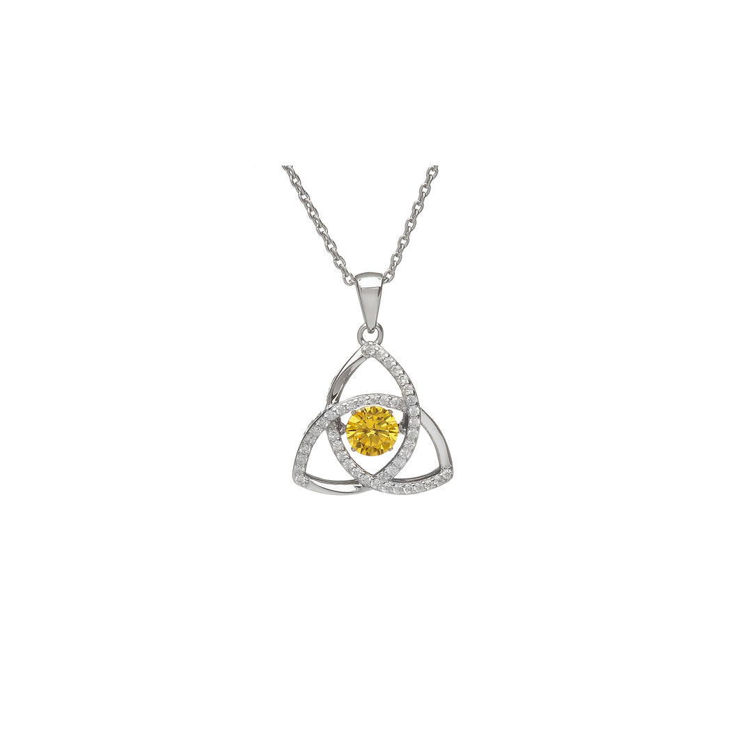 Dancing Trinity Birthstone Pendant November