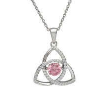 Load image into Gallery viewer, Dancing Trinity Birthstone Pendant October