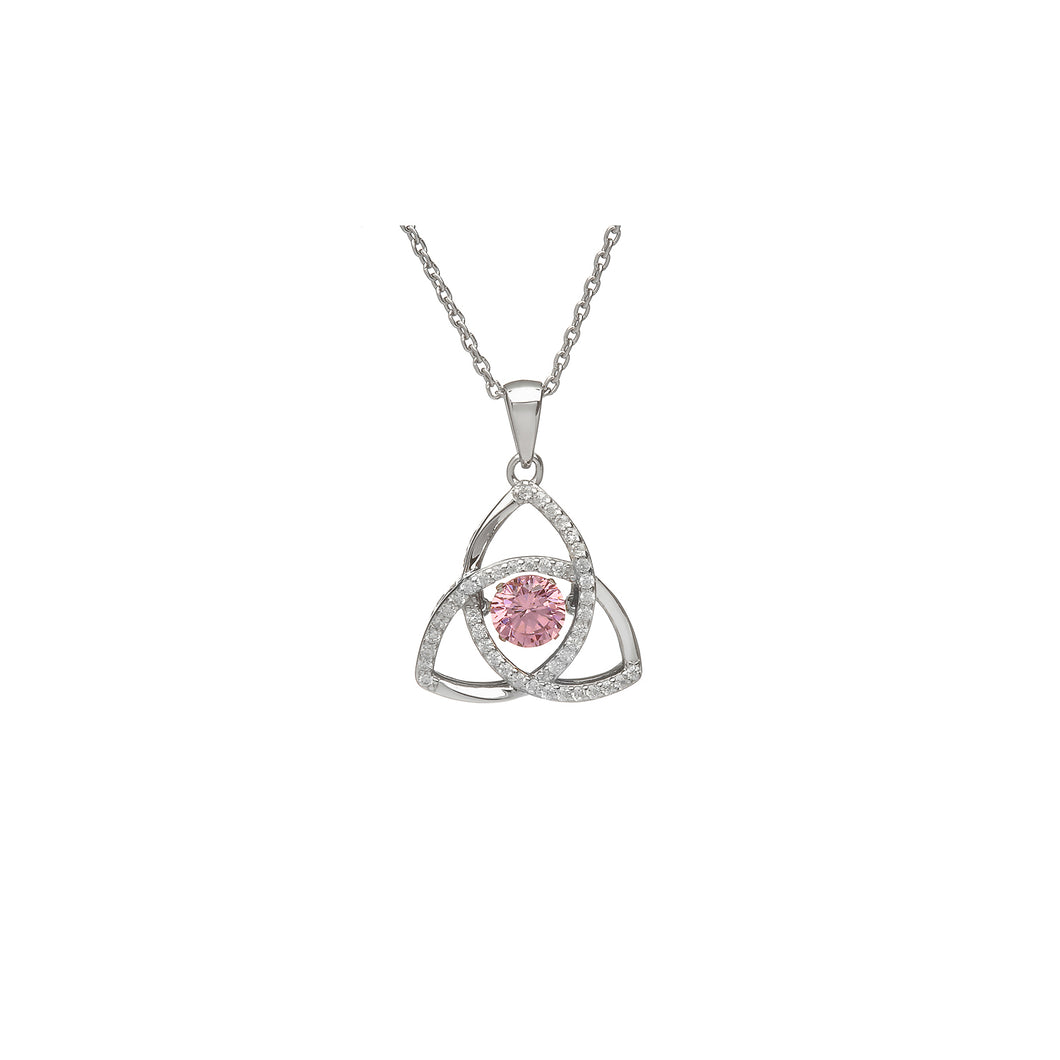 Dancing Trinity Birthstone Pendant October