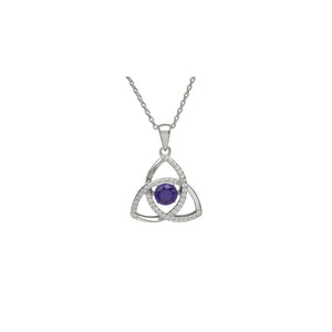 Dancing Trinity Birthstone Pendant September