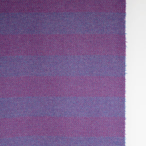 Plum & Purple Striped Donegal Tweed Fabric