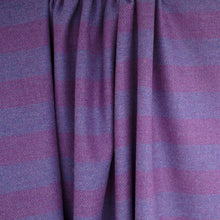 Load image into Gallery viewer, Plum & Purple Striped Donegal Tweed Fabric