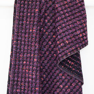 Purple Check Donegal Tweed Blanket