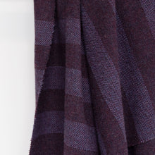 Load image into Gallery viewer, Purple Striped Donegal Tweed Fabric