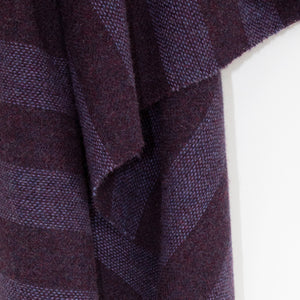Purple Striped Donegal Tweed Fabric
